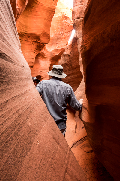 Slot canyon tour