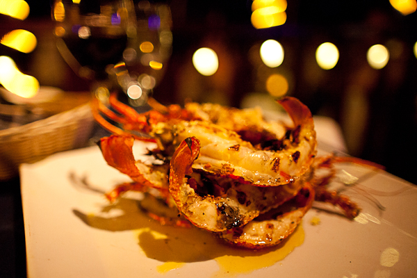 Some of Anguilla's best crayfish at Barrel Stay