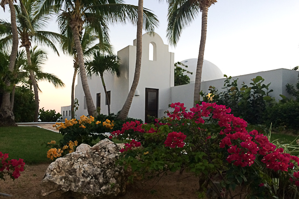 Stark-white Moorish architecture is a nice contrast with Anguilla's blues at Cap Juluca