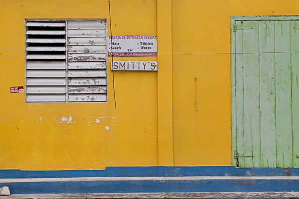 Colorful structures in Anguilla dot the landscape