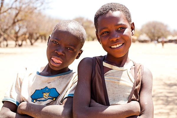 These kids from a village near Livingstone, Zambia, loved having their photos taken and seeing them displayed on the camera.
