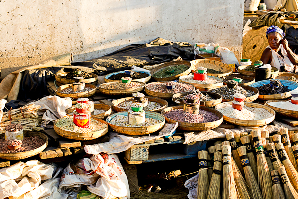 Getting a sense of place at a market in Livingstone, Zambia