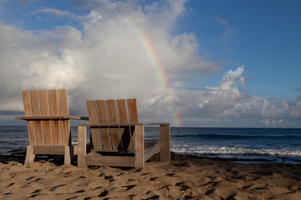 Rainbows over Hawaii at the Four Seasons Hualalai Resort