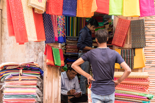 Scarves for sale in Jaipur, India