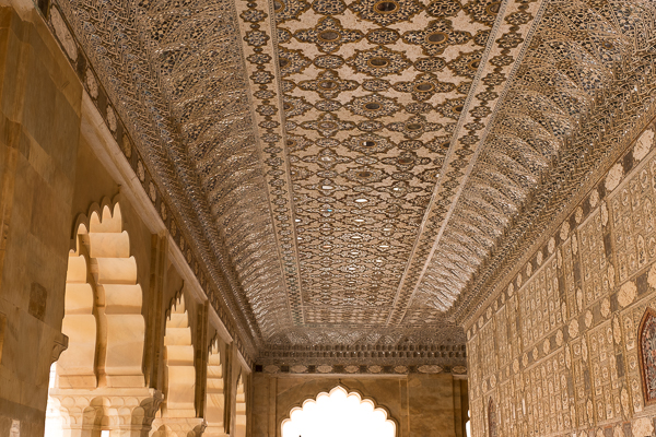 Mirrored ceiling in Amer Palace