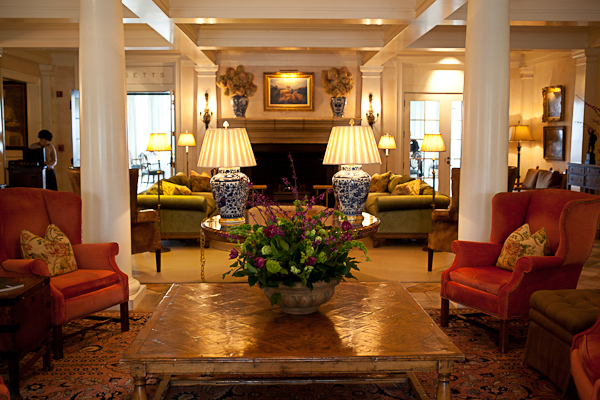 Living area of Keswick Hall and Golf Club in Virginia