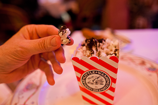 Black truffle shaved over popcorn at The Little Inn at Washington