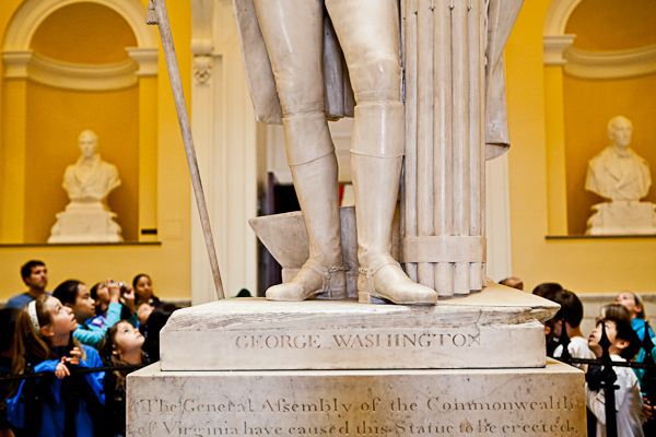 George Washington statue at Virginia State Capitol