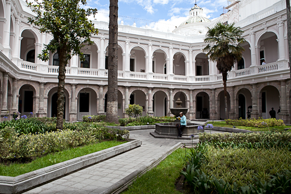 Courtyard in Quito, Ecuador