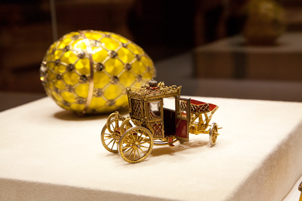 Faberge egg at the museum in St. Petersburg