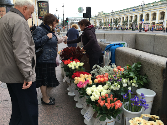 Flowers for sale in St. Petersburg