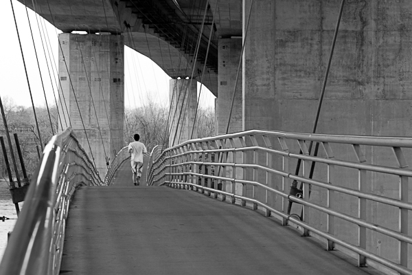 Pedestrian Bridge to Belle Isle in Richmond, Virginia