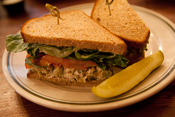 Chicken salad sandwich at Terrant's Cafe