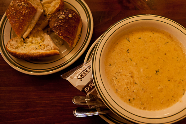 She crab soup at Terrant's Cafe