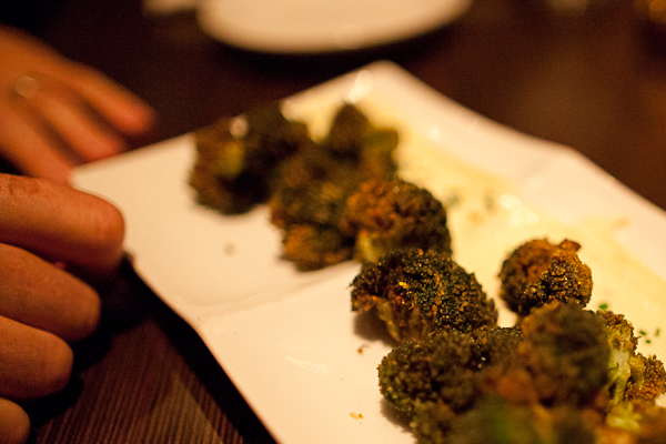 Fried broccoli at Heritage