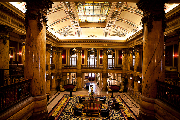 The Jefferson hotel lobby in Richmond, Virginia